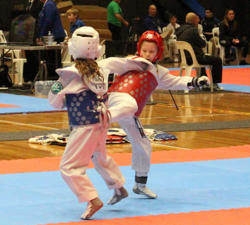 Taekwondo fighting is available for boys and girls, large or small